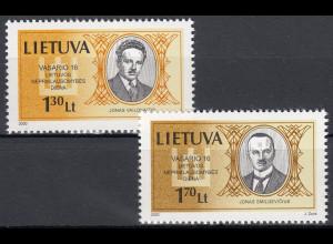 Litauen 2000 Michel Nr. 722–23 Unabhängigkeitstag