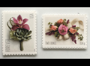 USA Amerika 2020 Neuheit Boutonniere und Blumengesteck Flora Rosen