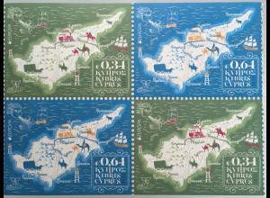 Zypern griechisch Cyprus 2020 Nr. 1435-36 DoDu Europa aus MH Hist. Postwege