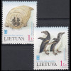 Litauen 2000 Michel Nr. 733–34 Exponate aus dem Meeresmuseum Kopgalis