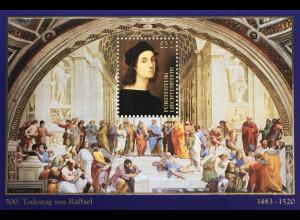 Liechtenstein 2020 Neuheit Todestag von Raffael italienischer Maler Architekt