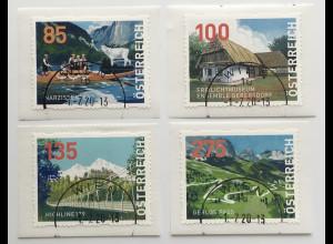 Österreich 2020 Dispensermarken 33-36 Heimat Narzissenfest Gerlospass Highline