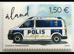 Aland 2020 Neuheit Die Aländische Polizei Polizeiauto Fuhrpark Auto Police