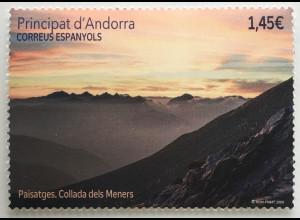 Andorra spanisch 2020 Nr. 499 Colada dels Meners Landschaften Natur Tourismus