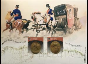 Belgien 2020 Block 251 Europa – Historische Postrouten Postwege Postbeförderung