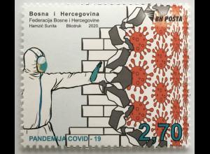 Bosnien Herzegowina 2020 Nr. 793 Kampf gegen Covid 19 Pandemie Vorsorge AHA
