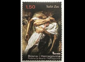 Bosnien Herzegowina 2020 Nr. 794 Freimarke Kunst Safet Zec Gemälde Aquarell