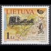 Litauen 2005 Michel Nr. 888 Geschichte der Post