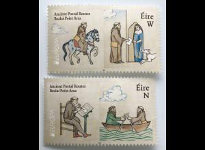 Irland 2020 Nr. 2360-61 Europaausgabe Historische Postwege Postbeförderung