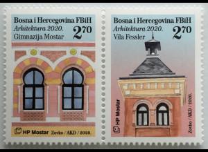 Bosnien Herzegowina Kroatische Post Mostar 2020 Neuheit Architektur Handwerk