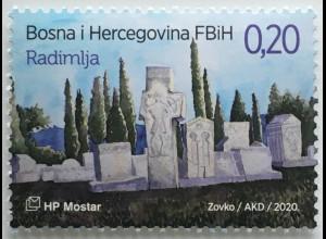 Bosnien Herzegowina Kroatische Post Mostar 2020 Neuheit Freimarken Museum