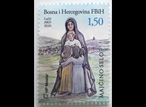 Bosnien Herzegowina Kroatische Post Mostar 2020 Neuheit Medugorje Maria Jesus
