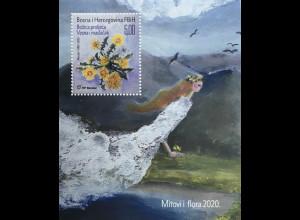 Bosnien Herzegowina Kroatische Post Mostar 2020 Neuheit Mythen und Flora Feen