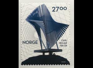 Norwegen 2020 Nr. 2029 100. Geburtstag von Carl Nesjar Maler Bildhauer Grafiker