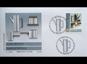 Bund BRD Ersttagsbrief FDC 1. Oktober 2020 Nr 3570 Design aus Deutschland