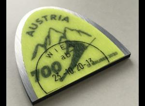 Österreich 2020 Neuheit Skigipfel besonders gestaltete Briefmarke