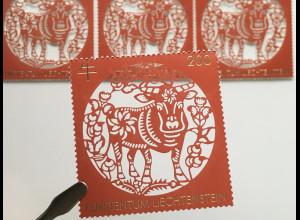 Liechtenstein 2020 Neuheit Chinesisches Tierkreiszeichen Jahr des Ochsen Lunar