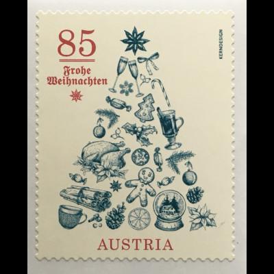 Österreich 2020 Neuheit Weihnachtsmarke Frohe Weihnachten Weihnachtsbaum Natale