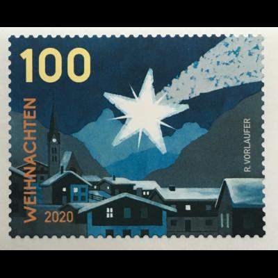 Österreich 2020 Neuheit Frohe Weihnachten Weihnachtsstern Christmas Natale