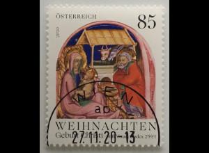 Österreich 2020 Neuheit Weihnachtsmarke Geburt Christi Christmas Natale Frieden