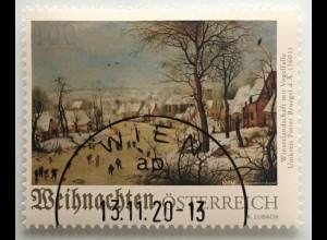 Österreich 2020 Neuheit Weihnachtsausgabe Winterlandschaft Gemälde Bruegel