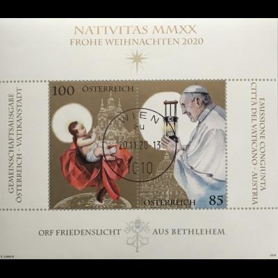 Österreich 2020 Neuheit Weihnachtsausgabe Friedenslicht aus Bethlehem Franziskus