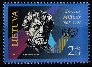 Litauen 2007 Michel Nr. 943 100. Geburtstag von Juozas Miltinis