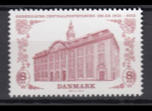 Dänemark 2012 Michel Nr. 1718 **, 100 Jahre Hauptpostamt Kopenhagen