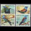 Litauen 2008 Michel Nr. 984-87 **, Weltweiter Naturschutz: Blauracke, WWF Satz