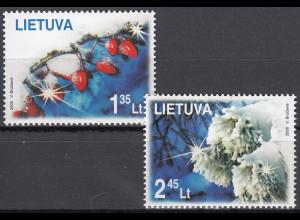 Litauen Lithuania Lietuva 2008 Michel Nr. 995-96 Weihnachten und Neujahr