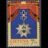Litauen 2009 Michel Nr. 1020 **, Orden (II), ... des Vytautas-Kreuz-Ordens
