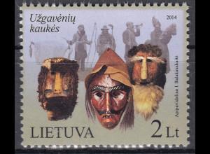 Litauen 2014 Michel Nr. 1153 Fastnachtsmasken