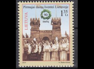 Litauen 2014 Michel Nr. 1164 90. Jahrestag des ersten litauischen Sängerfestes