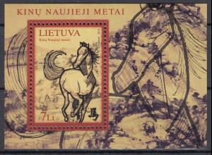 Litauen 2014 Block 49 Chinesisches Neujahr Jahr des Pferdes Abbildung Pferd
