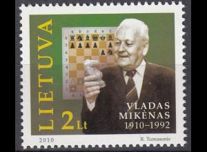 Litauen 2010 Michel Nr. 1037 100. Geburtstag von Vladas Mikėnas