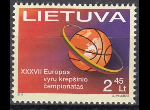 Litauen 2011 Michel Nr. 1055 Basketball-Europameisterschaft der Herren