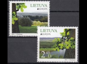 Litauen 2011 Michel Nr. 1063-64 Europa Der Wald