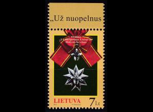 Litauen 2011 Michel Nr. 1086 Orden Großer Verdienstorden
