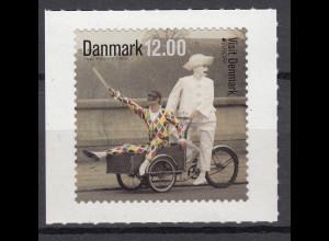 Dänemark 2012 Michel Nr. 1700 Europa Besuche Pierrot und Harlekin auf Rad