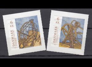 Dänemark 2012 Michel Nr. 1693-94 Astronomie Motivgleiche Ausgabe mit China