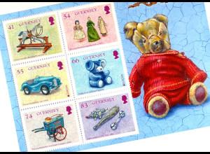 Guernsey 2015, Block 73, Spielzeug britischer Königskinder, Europa-Altes Spielz.