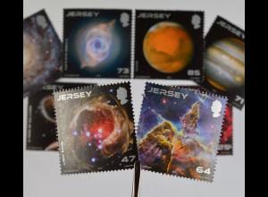 Jersey 2015, Michel Nr. 1905-12, 25 Jahre Weltraumteleskop Hubble
