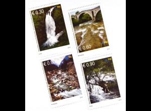 Kosovo 2015 Michel Nr. 307-10 Flüsse und Bäche Wasserfall bei Pec Weißer Drin
