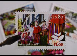 Portugal Madeira 2015 Michel Nr. 350-53 Blumenfest Blumenteppich Blumenmarkt