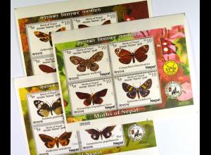 Nepal 2014 Block 7 Falter Schmetterlinge Fauna