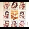 Serbien Serbia 2015 Michel Nr. 593-600 Angesehene serb. Regisseure ZD-Bogen
