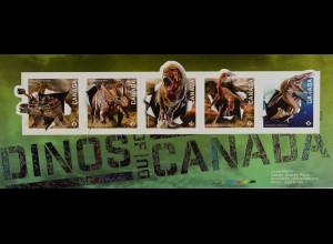 Kanada Canada 2015 Block 213 Dinosaurier