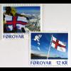 Färöer 2015 Michel Nr. 834-35 75 Jahre Faröische Flagge Satz mit 2 Werten