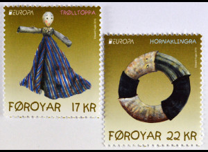 Färöer 2015 Michel Nr. 836-37 Europamarken Altes Spielzeug Europa