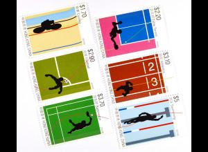 Hongkong 2015 Michel Nr. 1976-81 Sport Radfahren Tischtennis Fussball